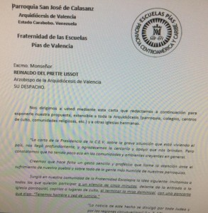 Carta escolapios